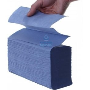 2 Ply - Blue - Interleaved - Paper Hand Towels
