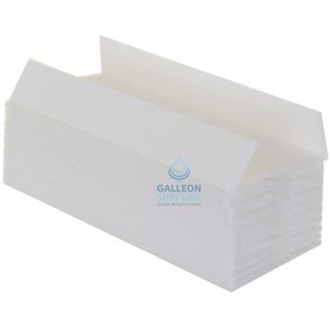 2 Ply - White - C-Fold - Flushable Paper Hand Towels