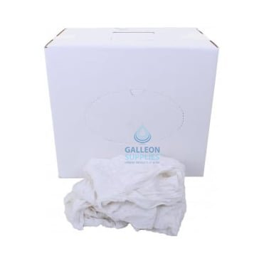 Cleaning Rags - Cotton Polishing Cloth - White