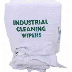 Cleaning Rags - Terry Toweling - White