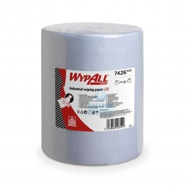 L30 Ultra + Large Wiper Roll - 3 Ply - Blue