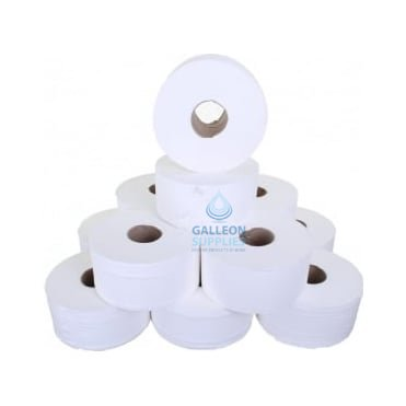 "Mini Jumbo Toilet Rolls - 2 Ply - 2 1/4"" Core"