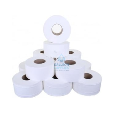 "Mini Jumbo Toilet Rolls - 2 Ply - 3"" Core"