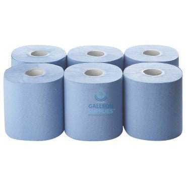 Premium 2 Ply Blue Centrefeed Roll