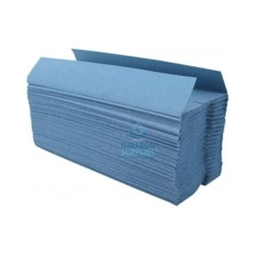 Value 1 Ply - Blue - C-Fold - Paper Hand Towels