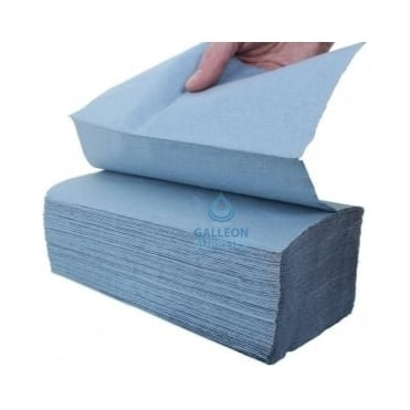 Value 1 Ply - Blue - V-Fold -Paper Hand Towels