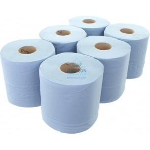 Value 2 Ply Blue Centrefeed Rolls