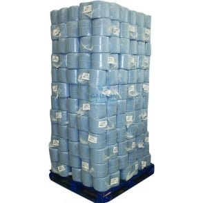 Value 2 Ply Blue Centrefeed Rolls - Pallet
