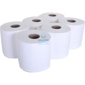 Value 2 Ply White Centrefeed Rolls