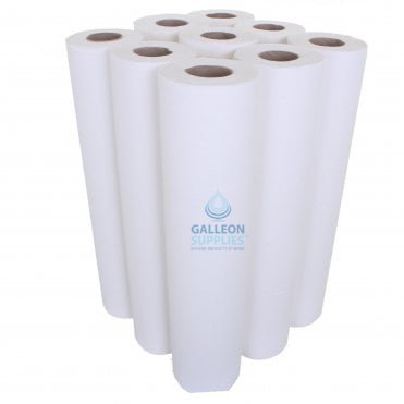 PALLET OFFER : £10.69 PER CASE - FREE DELIVERY - Embossed 2 Ply White Couch Rolls